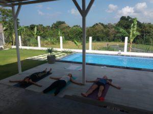 Private yoga session at a villa