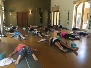 Yoga session at a Studio